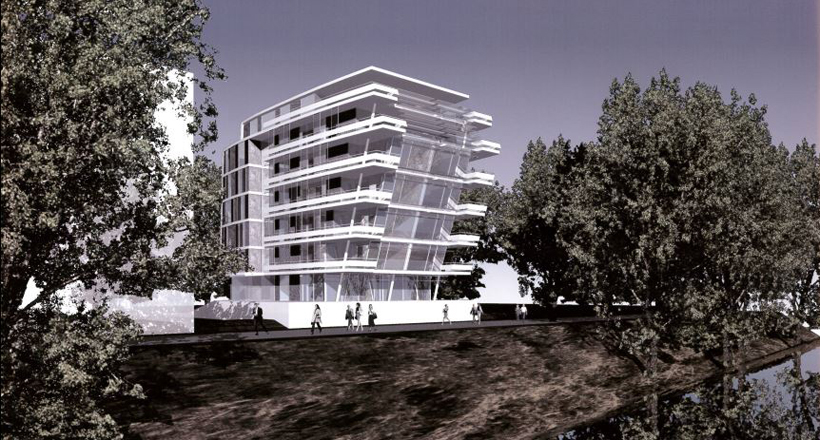 Wohnhausplanung im Düsseldorfer Hafen